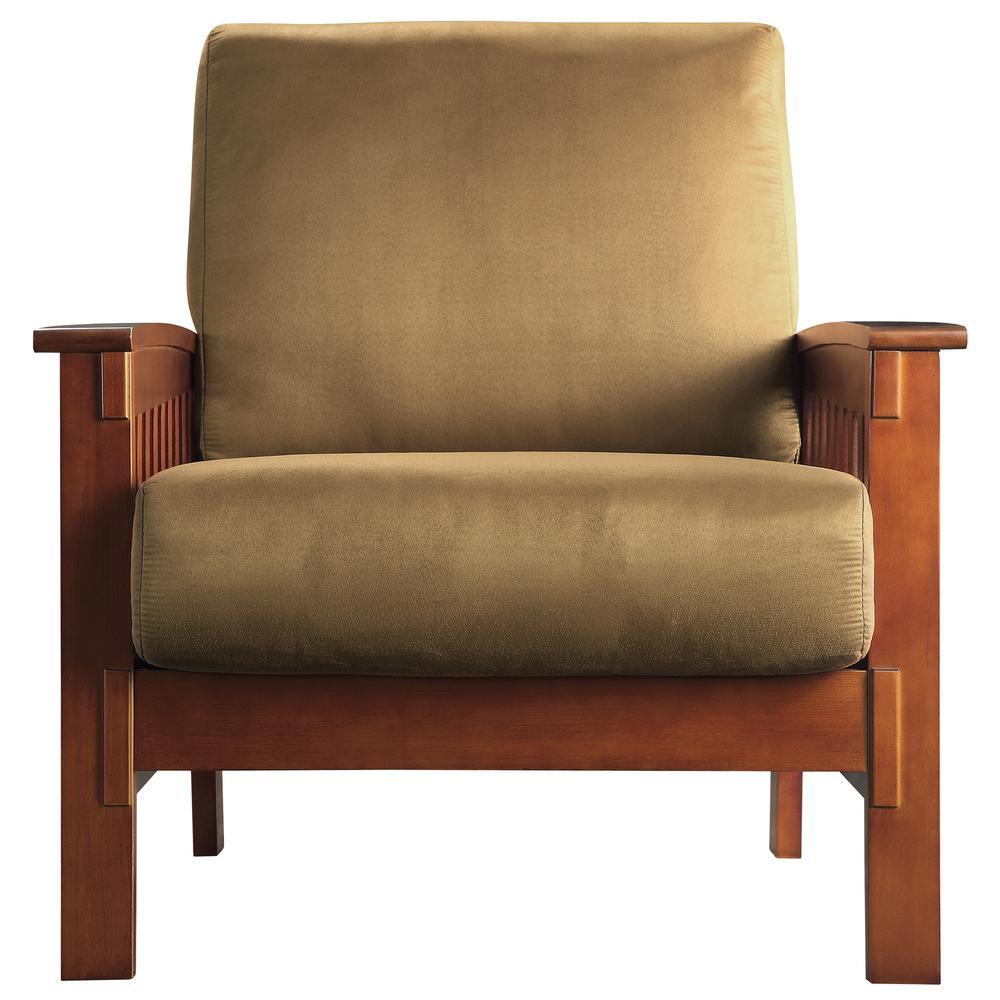 Homesullivan Rust Microfiber Cushioned Arm Chair With