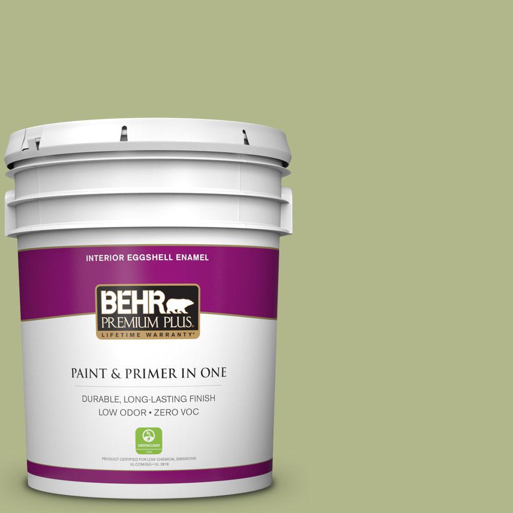 BEHR Premium Plus 5-gal. #M350-4 Sweet Grass Eggshell Enamel Interior Paint