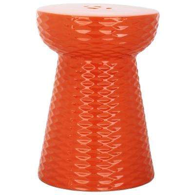Daphne Orange Garden Patio Stool