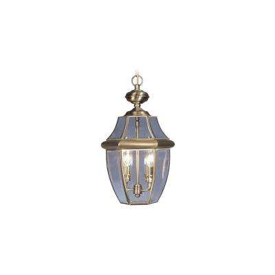 Providence 2-Light Antique Brass Outdoor Incandescent Pendant