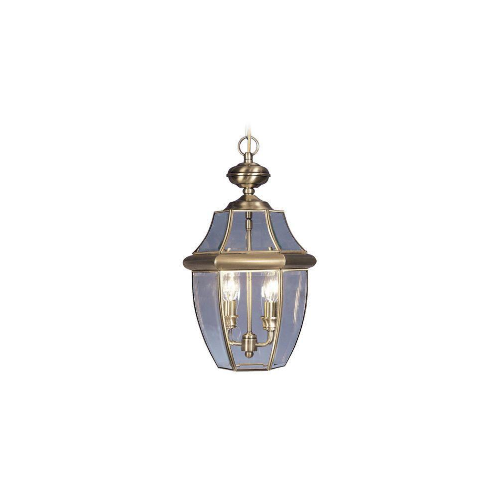 Providence 2-Light Antique Brass Outdoor Incandescent Pendant