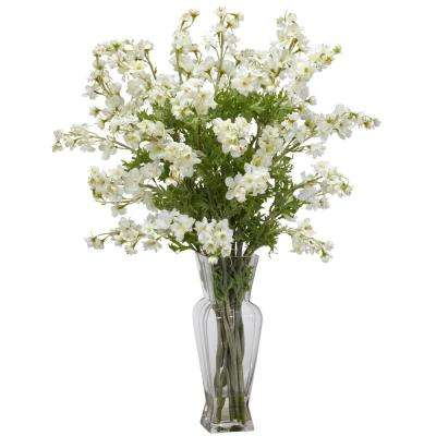 Dancing White Daisy Silk Flower Arrangement