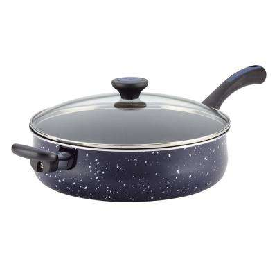 5 Qt. Aluminum Nonstick Covered Jumbo Cooker with Helper Handle, Deep Blue Speckle