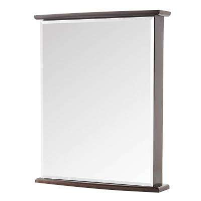22 in. W x 27-3/4 in. H Fog Free Frameless Surface-Mount Bathroom Medicine Cabinet in Java
