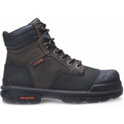 Men's Yukon Waterproof Durashock 6 inch Work Boot - Composite Toe - Coffee Bean Size 10(M)