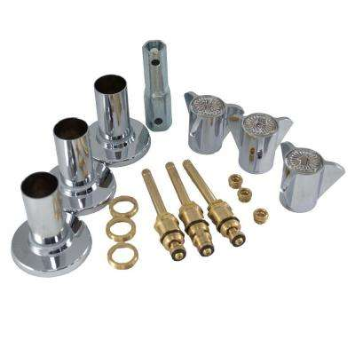 Tub and Shower Rebuild Kit for Sayco Space Age Faucets in Chrome Finish (Valve Not Included)