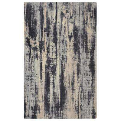 Oak Contemporary Modern Grey 7 ft. 6 in. x 9 ft. 6 in. Area Rug