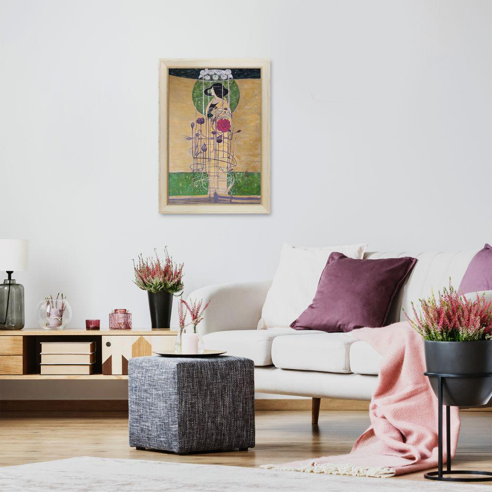 La Pastiche 29 in. x 41 in. Design for a Wall Decoration with Constantine Frame by Charles Rennie Mackintosh Framed Wall Art, Multi-Colored was $850.68 now $476.18 (44.0% off)