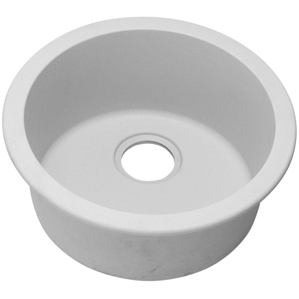 Quartz Classic White 18 in. Dual Mount Bar Sink
