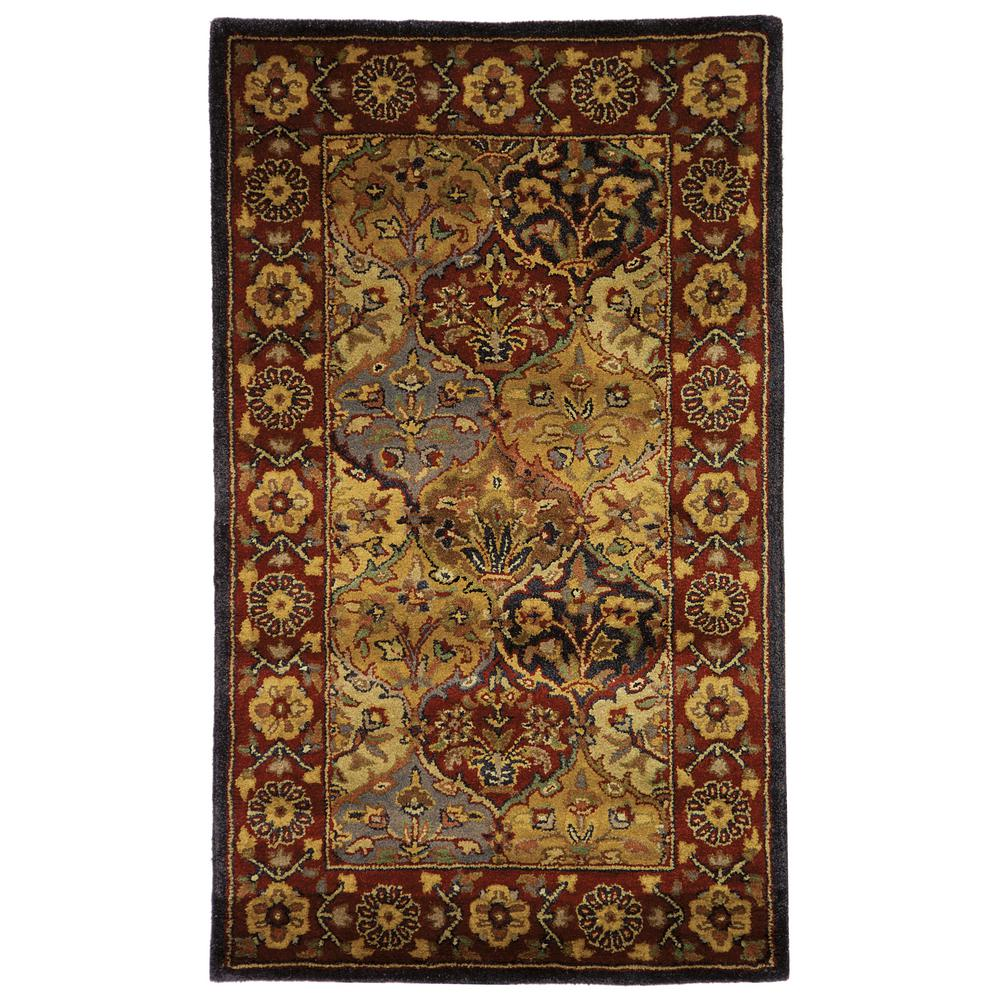 Heritage Multi/Navy 3 ft. x 5 ft. Area Rug