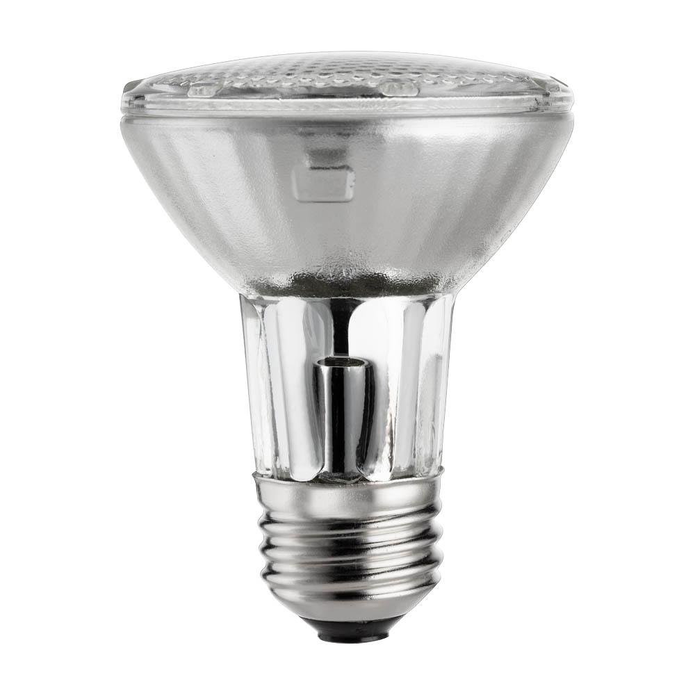 philips 50 watt equivalent par20 halogen dimmable floodlight light bulb 419861 the home depot. Black Bedroom Furniture Sets. Home Design Ideas