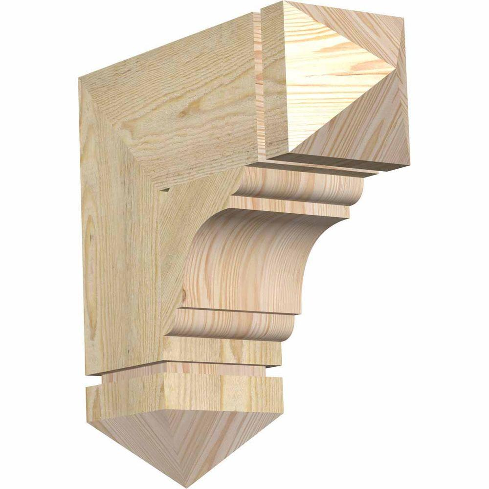 Ekena Millwork 6 in. x 18 in. x 18 in. Douglas Fir Olympic Arts and Crafts Rough Sawn Bracket