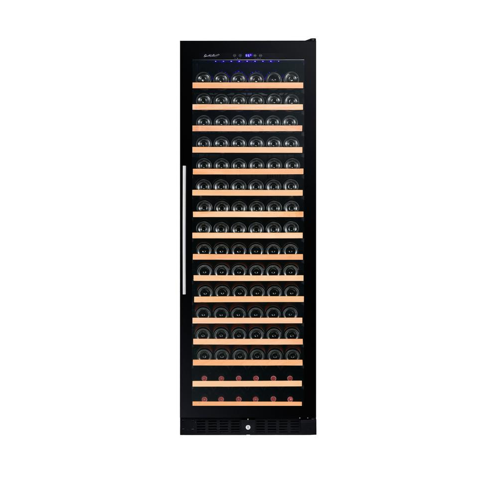 166 Bottle Single Built In Wine Cooler Smoked Gl