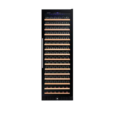 166-Bottle Single Built in Wine Cooler in Smoked Glass