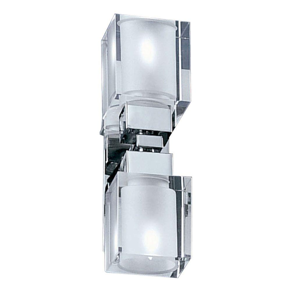 Eglo Sintra 2-Light Chrome Wall Light-DISCONTINUED