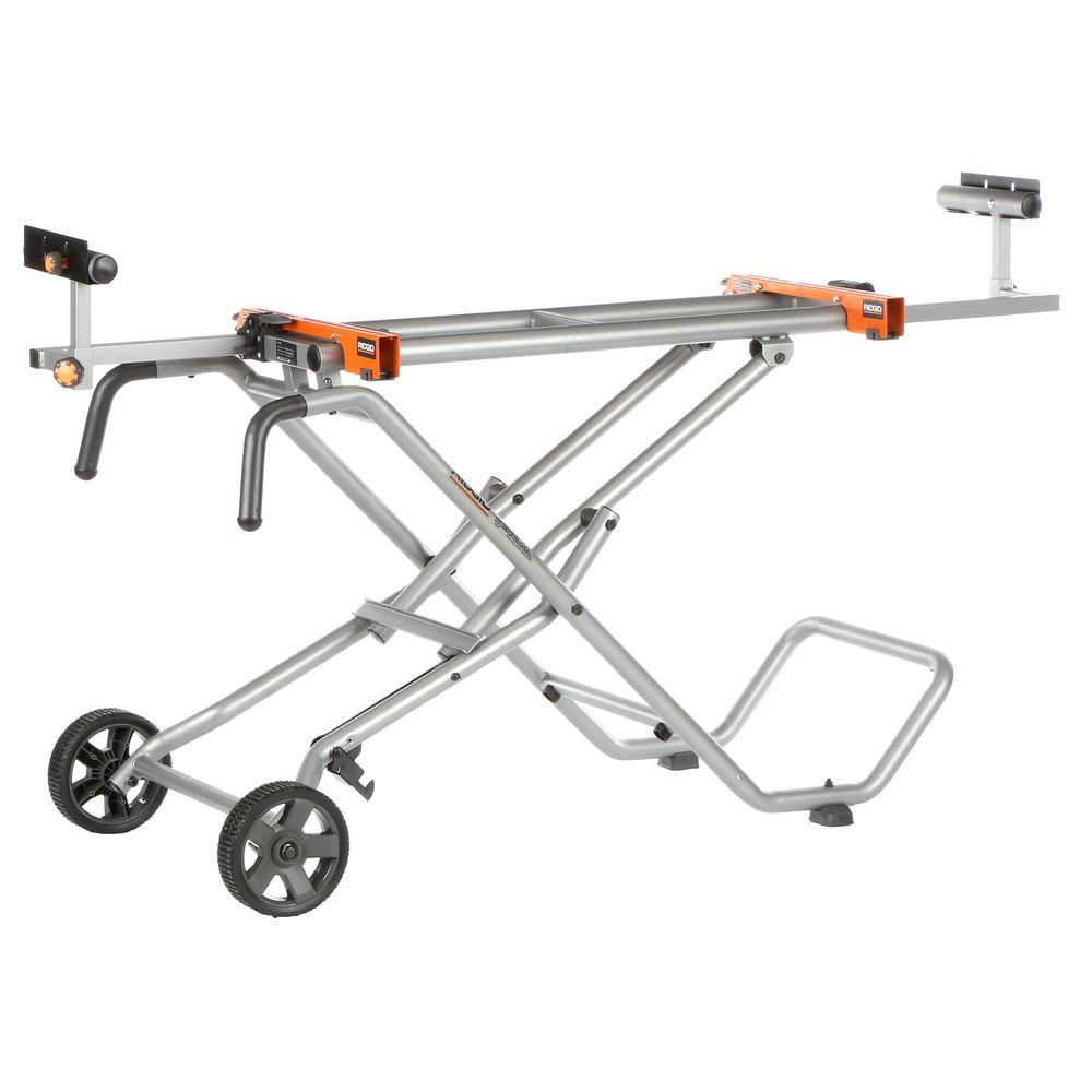 Ridgid Mobile Miter Saw Stand Ac9945 The Home Depot