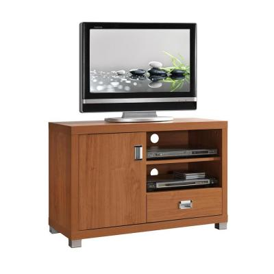 Techni Mobili 35 in. Maple Composite TV Stand with 1 Drawer Fits TVs Up to 38 in. with Storage Doors