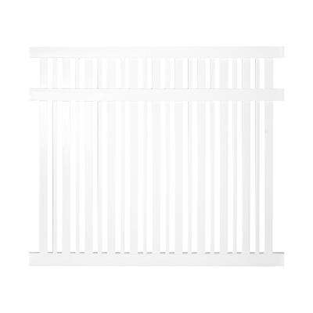 Sarasota 5 ft. H x 6 ft. W White Vinyl Pool Fence Panel