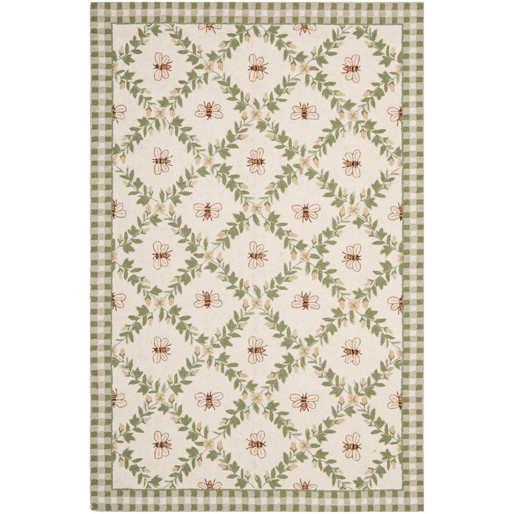 Chelsea Ivory/Green 7 ft. 9 in. x 9 ft. 9 in.