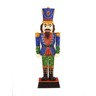 home accents holiday 72 in led tinsel nutcracker