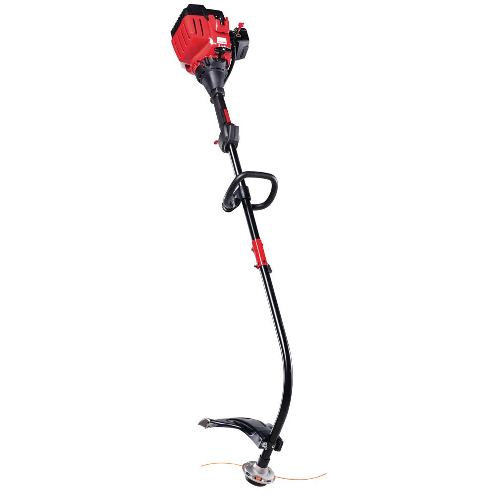 Troy-Bilt 25 cc Gas 2-Cycle Curved Shaft Attachment Capable String Trimmer  with JumpStart Capabilities