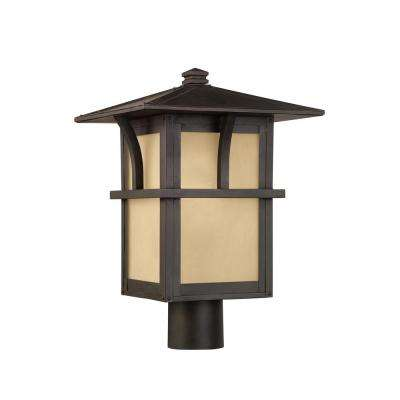 Medford Lakes 1-Light Outdoor Statuary Bronze Post Light with Bulb