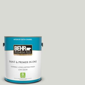 Behr Ultra 1 Gal Icc 23 Silver Tradition Satin Enamel Interior Paint And Primer In One 775001 The Home Depot