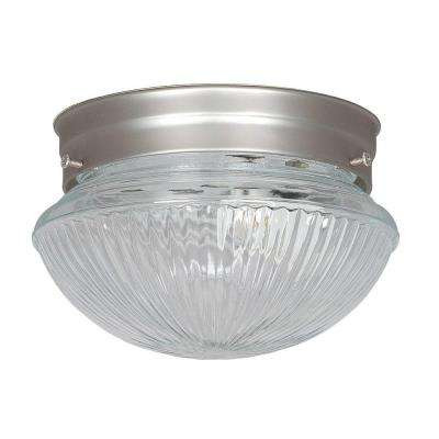 Furby 1-Light Satin Nickel Flush Mount