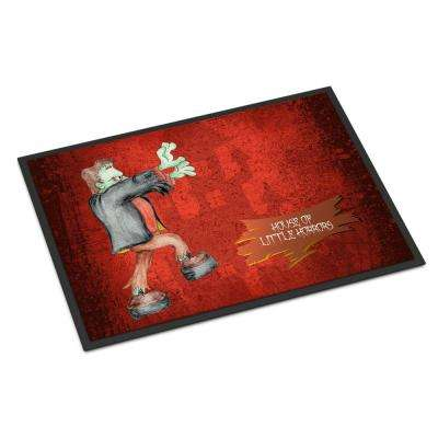18 in. x 27 in. Indoor/Outdoor Little House of Horrors with Frankenstein Halloween Door Mat