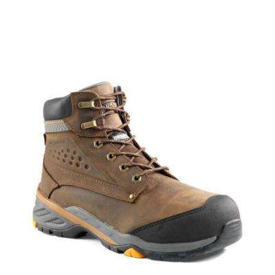 Kodiak Men S Crusade Waterproof 6 In Work Boots Composite Toe Brown Size 9 W Kd0a4nkadwx The Home Depot
