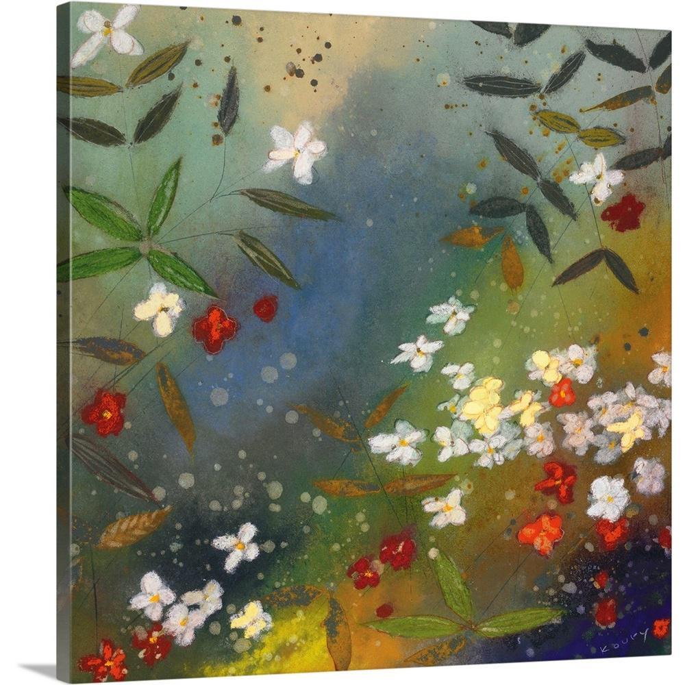 """Gardens in the Mist II"" by  Aleah Koury Canvas Wall Art"