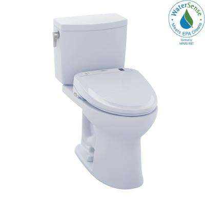 Drake II Connect 2-Piece 1.0 GPF Elongated Toilet with Washlet S300e Bidet and CeFiONtect in Cotton White