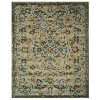 Bella Gray/Gold 8 ft. x 10 ft. Area Rug