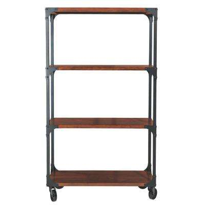 Industrial Empire Black Open Bookcase
