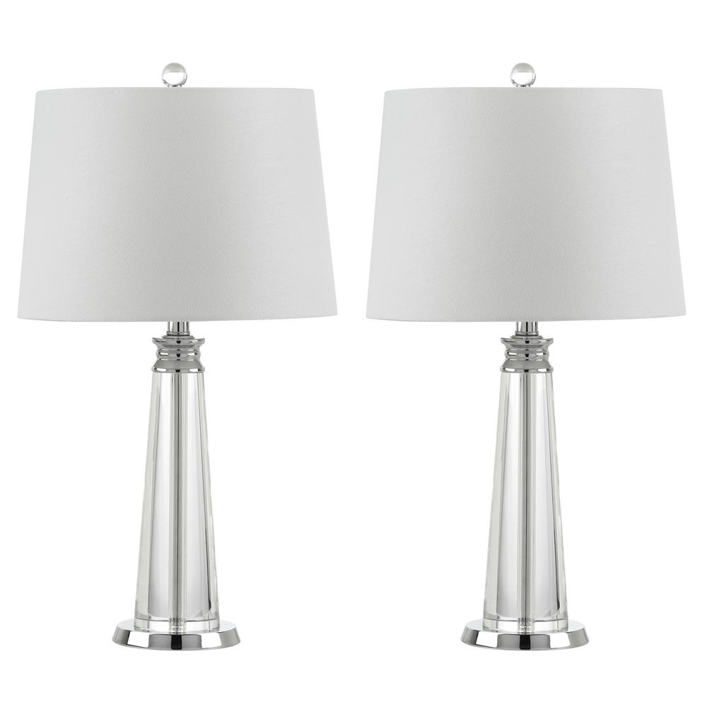 Carla 24.5 in. Clear Table Lamp (Set of 2)