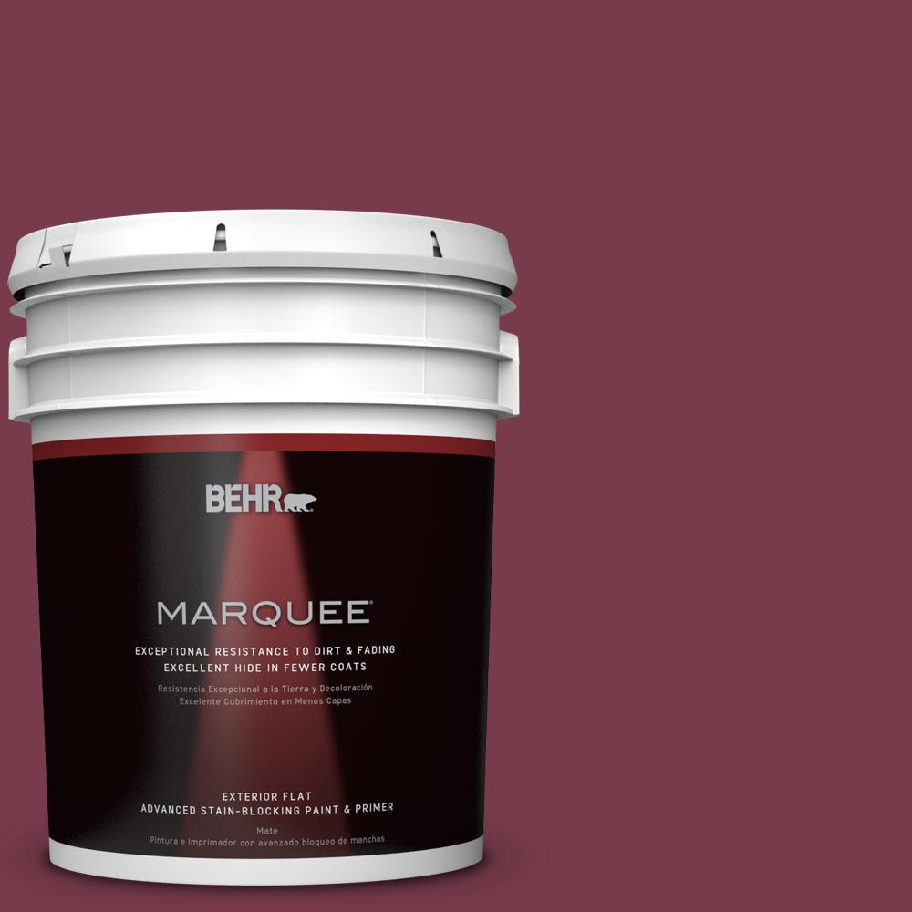 BEHR MARQUEE 5-gal. #BIC-51 July Ruby Flat Exterior Paint