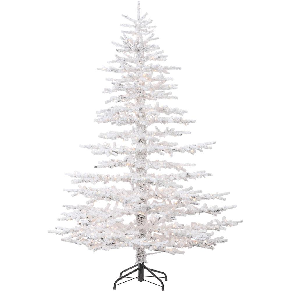 7.5 ft. Arctic Pine Artificial Christmas Tree with Multi-Color LED String