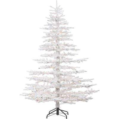 7.5 ft. Arctic Pine Artificial Christmas Tree with Multi-Color LED String Lighting