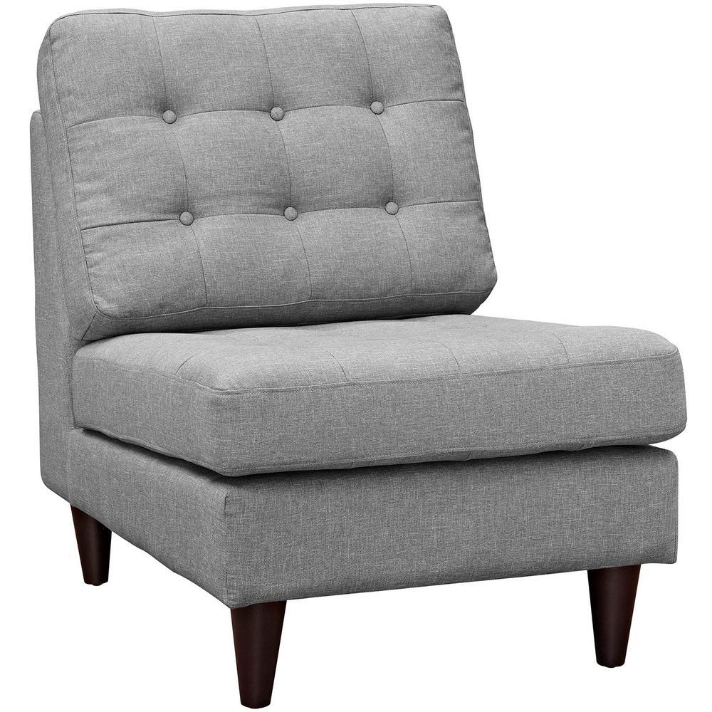 Empress Light Gray Upholstered Lounge Chair
