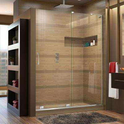 Mirage-X 56 in. to 60 in. x 72 in. Semi-Framed Sliding Shower Door in Chrome