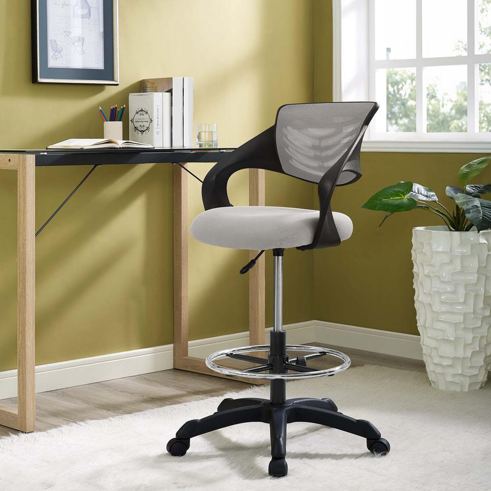Thrive Mesh Drafting Chair in Gray