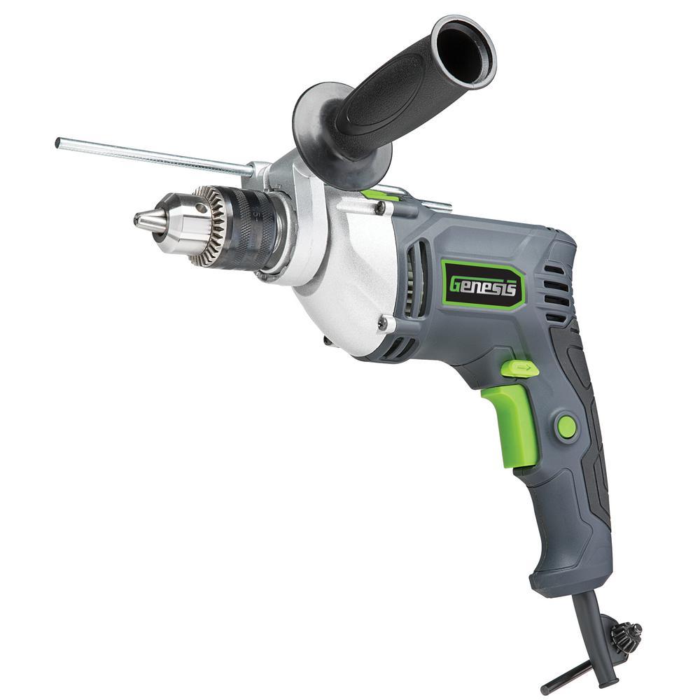 Genesis 7.5 Amp 1/2 inch Variable Speed Reversible Hammer Drill by Genesis