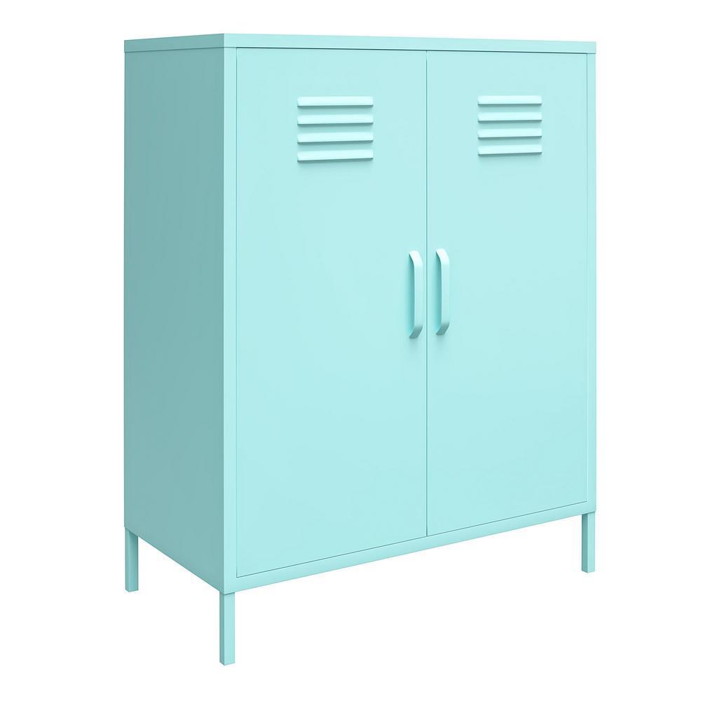 Cache Mint 2-Door Metal Locker Storage Cabinet