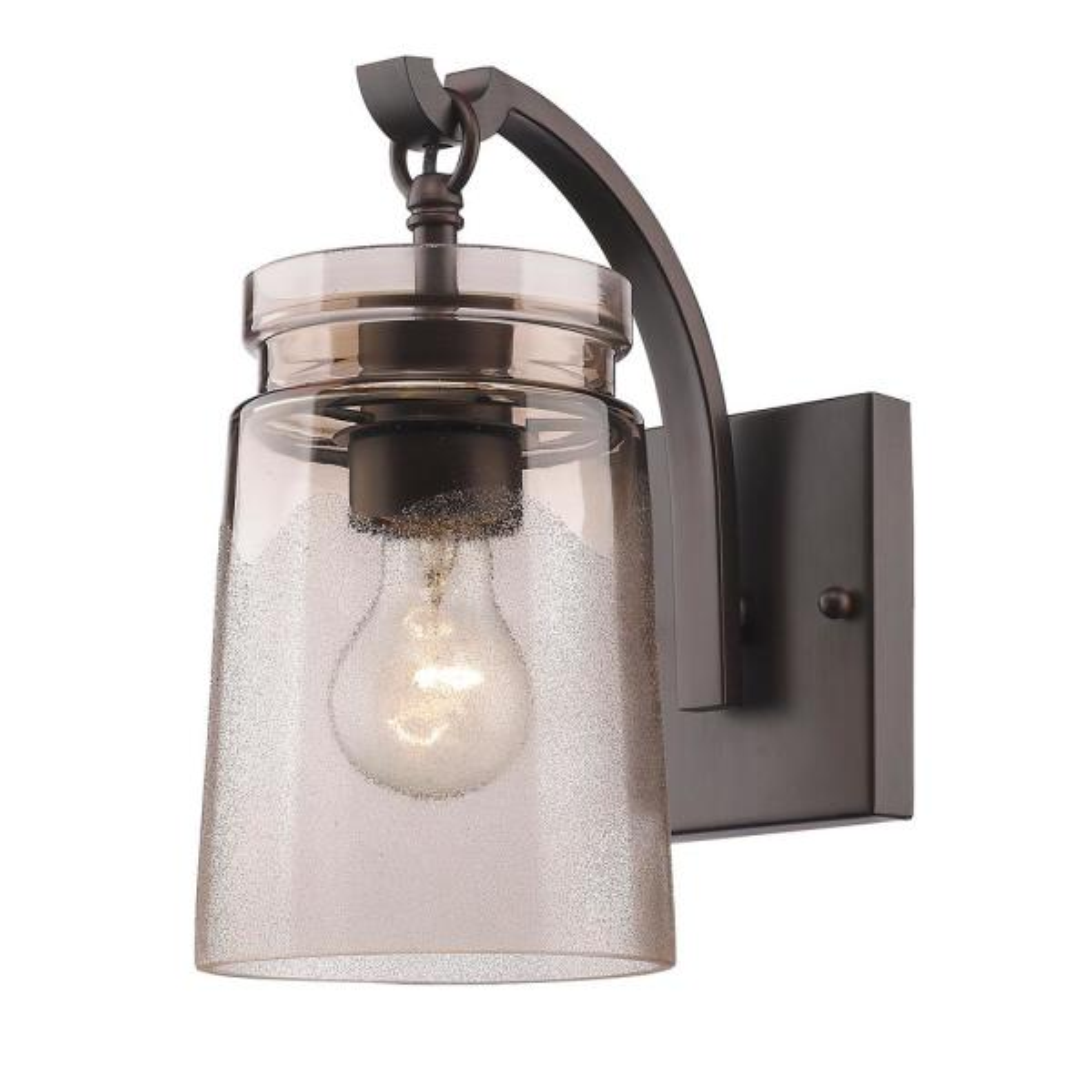 Travers Rubbed Bronze 1-Light Bath Light