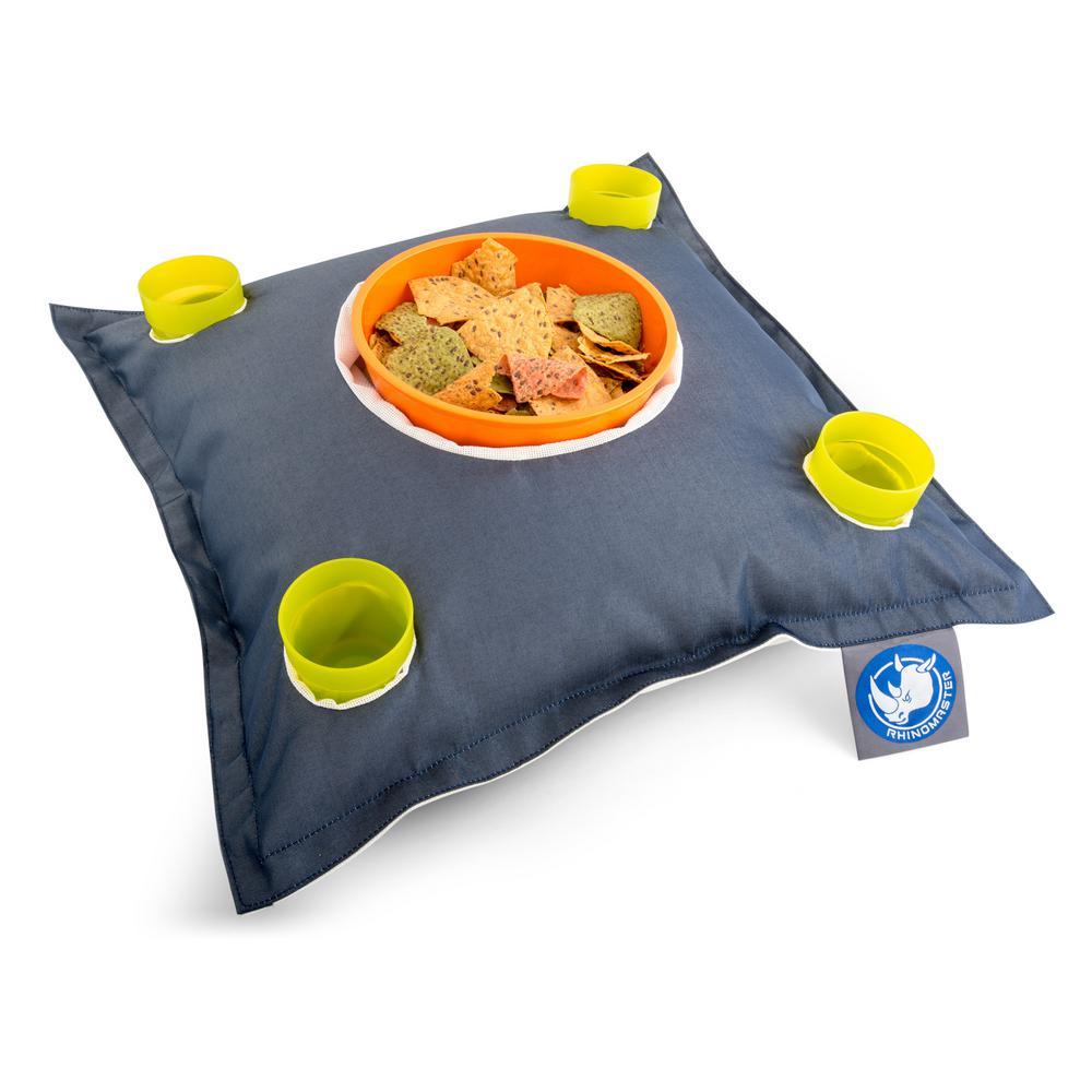 Navy Blue, Nylon Fabric Stratus Bean Bag Drink Holder Pool Float