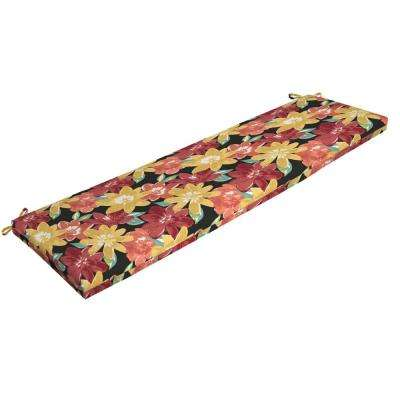 Ruby Abella Floral Rectangle Outdoor Bench Cushion
