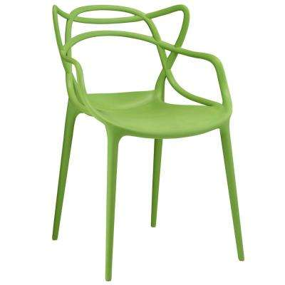Entangled Green Dining Arm Chair