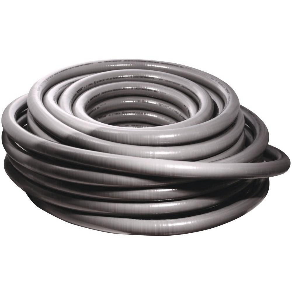 Southwire 1 1 4 In X 50 Ft Ultratite Liquidtight Flexible Non Metallic Pvc Conduit 55094501 The Home Depot