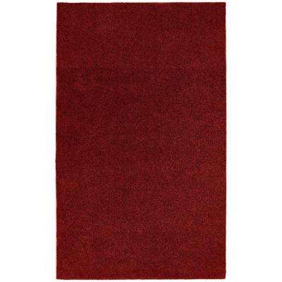 Washable Room Size Bathroom Carpet Burgundy 5 Ft. X 8 Ft. Area Rug