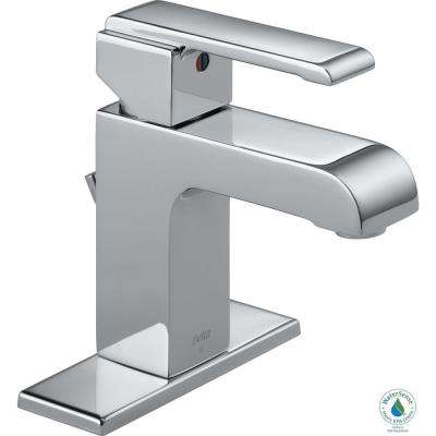 Arzo Single Hole Single-Handle Bathroom Faucet with Metal Drain Assembly in Chrome